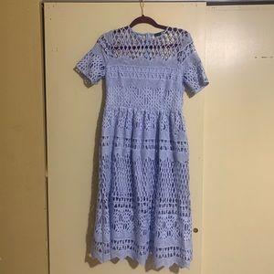 🎁 Cornflower blue crochet lace dress! Worn ONCE!